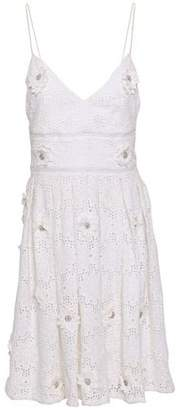 MICHAEL Michael Kors Embellished Silk-crochet Dress