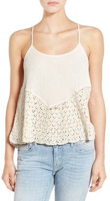 Volcom 'Moonfire' Crochet Cotton Camisole $45 thestylecure.com