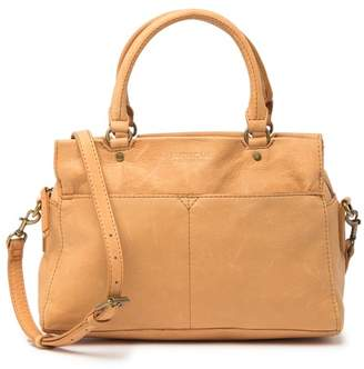 AMERICAN LEATHER CO. Sequoia Triple Entry Leather Satchel
