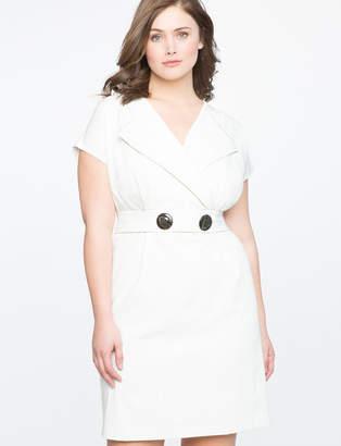 ELOQUII Cap Sleeve Faux Wrap Dress
