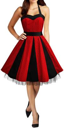 BlackButterfly Ivy' 50's Polka Dot Swing Dress (, US 14)