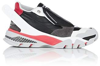 Calvin Klein Men's Rubber-Strap Leather Sneakers