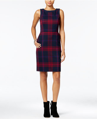 Tommy Hilfiger Maggie Plaid Sheath Dress, Only at Macy's $98.50 thestylecure.com