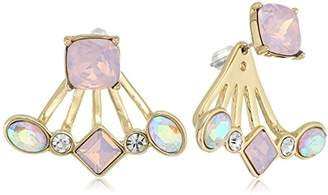 T Tahari Womens Pastel Party Front Back Earrings With Stones
