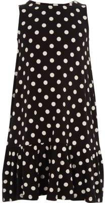 River Island Girls navy polka dot frill hem dress