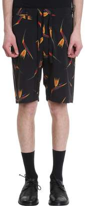 Attachment Black Polyester Shorts