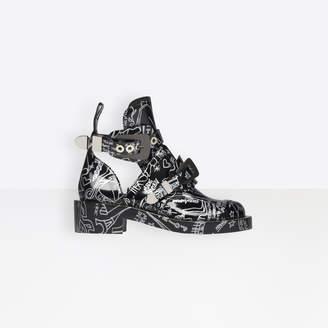 Balenciaga Punk spirit high derby shoes