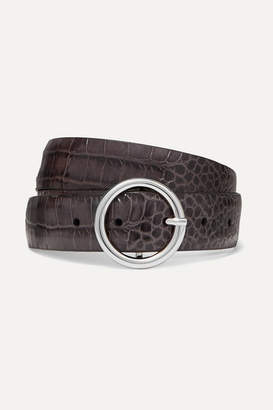 Andersons Anderson's - Croc-effect Leather Belt - Light gray