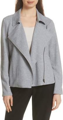 Eileen Fisher Organic Cotton Tweed Moto Jacket