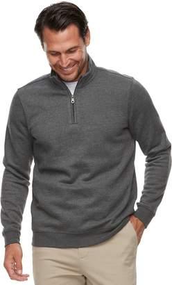 Croft & Barrow Men's Classic-Fit Quarter-Zip Fleece Pullover