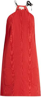 Isa Arfen Chain-strap faille dress