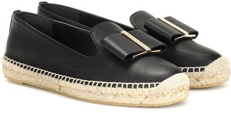 Salvatore Ferragamo Sannio leather espadrilles