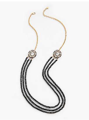 Talbots Polka Nights Long Bead Necklace