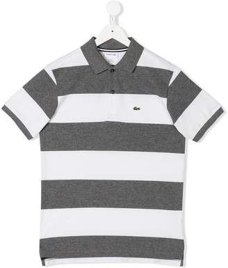 Lacoste Kids TEEN striped polo shirt