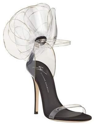 Giuseppe Zanotti Vinyl Flower Ankle-Strap Sandals