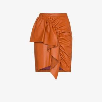 Isabel Marant nela frill trim leather mini skirt