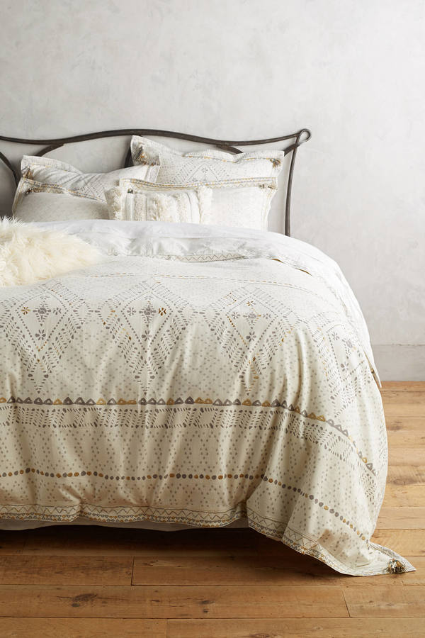 Anthropologie Anthropologie Embroidered Pointilliste Duvet