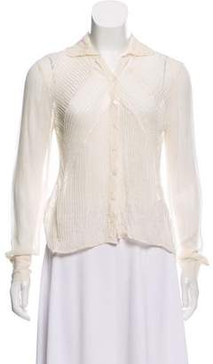 Robert Rodriguez Silk Button-Up Top