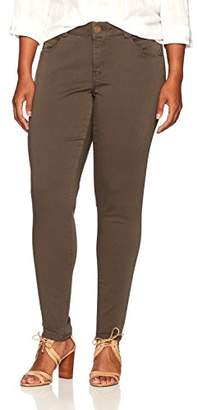 Democracy Women's Plus Size AB Solution Colored Booty Lift Jegging