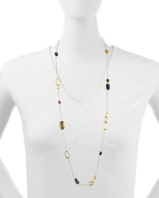 """Marco Bicego Murano 18k Mixed-Stone Station Necklace, 36""""L"""