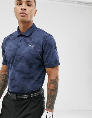 Puma camo polo in navy