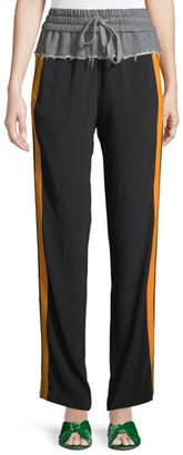 No.21 No. 21 Side Striped Tie-Waist Sweatpants