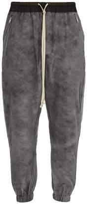 Rick Owens Silk-organza padded track pants