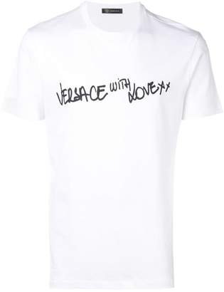 dd9a48c22 Versace 'With Love' print T-shirt