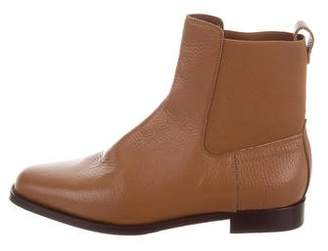 Manolo Blahnik Leather Chelsea Ankle Boots