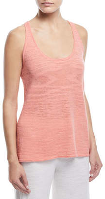 Minnie Rose Linen-Blend Racerback Tank