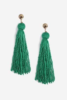 Topshop Tassel Seedbead Drop Earrings