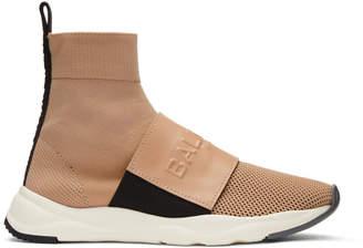 Balmain Pink Cameron High-Top Sneakers