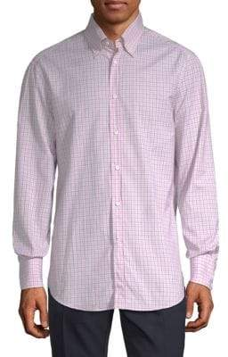 Brunello Cucinelli Long-Sleeve Checked Button-Down Shirt