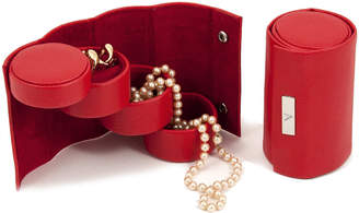 Bey-Berk Monogrammed Leatherette 3 Level Jewelry Roll
