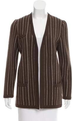 Valentino Stripe Open Front Cardigan