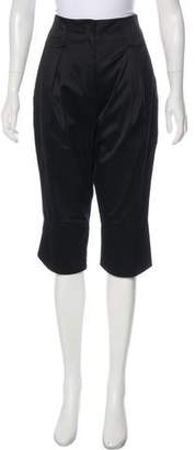 Versace High-Rise Cropped Pants