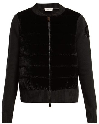 Moncler Maglione Wool Blend Cardigan - Womens - Black