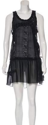 AllSaints Silk Lace-Up Dress