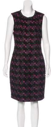 Trina Turk Metallic Tweed Dress