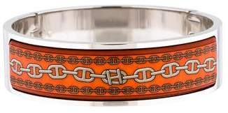 Hermes By Martin Margiela Wide Enamel Bangle Bracelet
