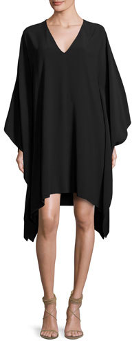 Ralph Lauren Collection Gaelle V-Neck Caftan Dress, Black