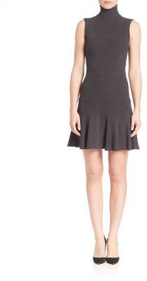 Alice + Olivia Greta Drop-Waist Turtleneck Dress $368 thestylecure.com