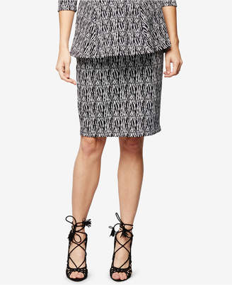A Pea In The Pod Maternity Jacquard Pencil Skirt $78 thestylecure.com