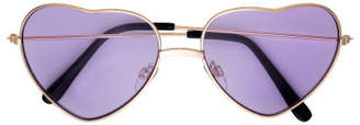 H&M Heart-shaped Sunglasses - Purple
