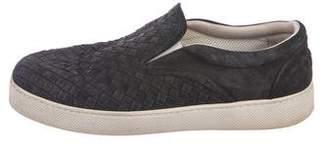 Bottega Veneta Suede Intrecciato Slip-On Sneakers