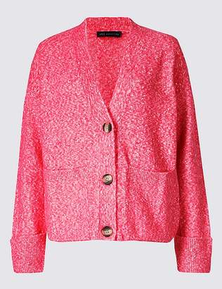 Marks and Spencer Button Through Cardigan with Cotton