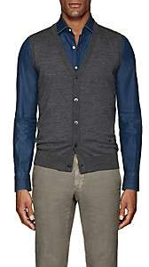Isaia Men's Merino Wool Sweater Vest - Gray