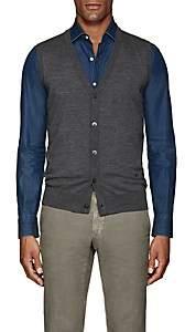 Isaia Men's Merino Wool Sweater Vest-Gray