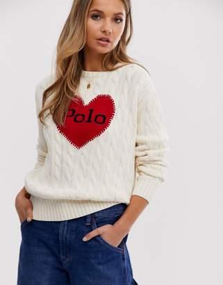 Polo Ralph Lauren oversized heart logo jumper