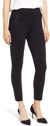 Anne Klein Florence Zip Pocket Seam Detail Stretch Pants